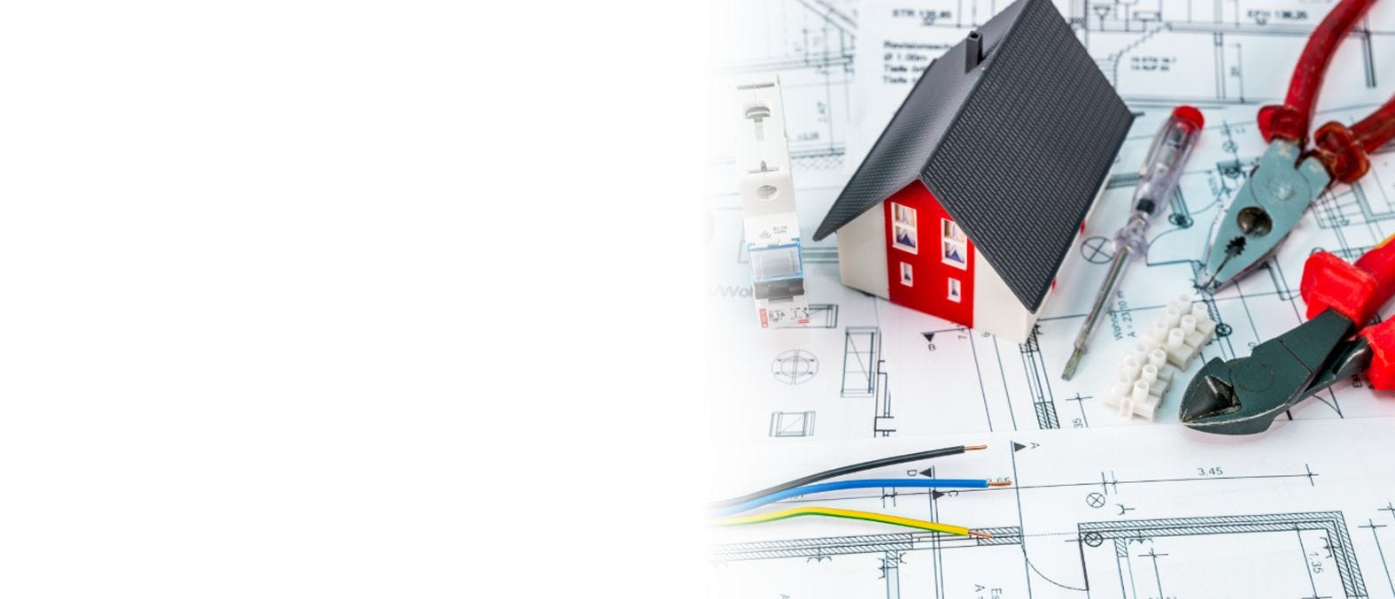 Construction blueprints of home to accompany your Electrify America electric vehicle home charger.