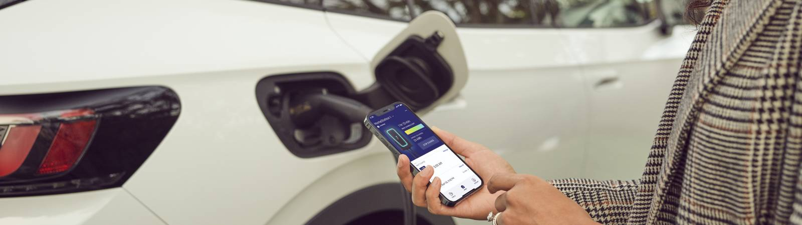 HomeStation features the Electrify America app for managing your charger remotely at home